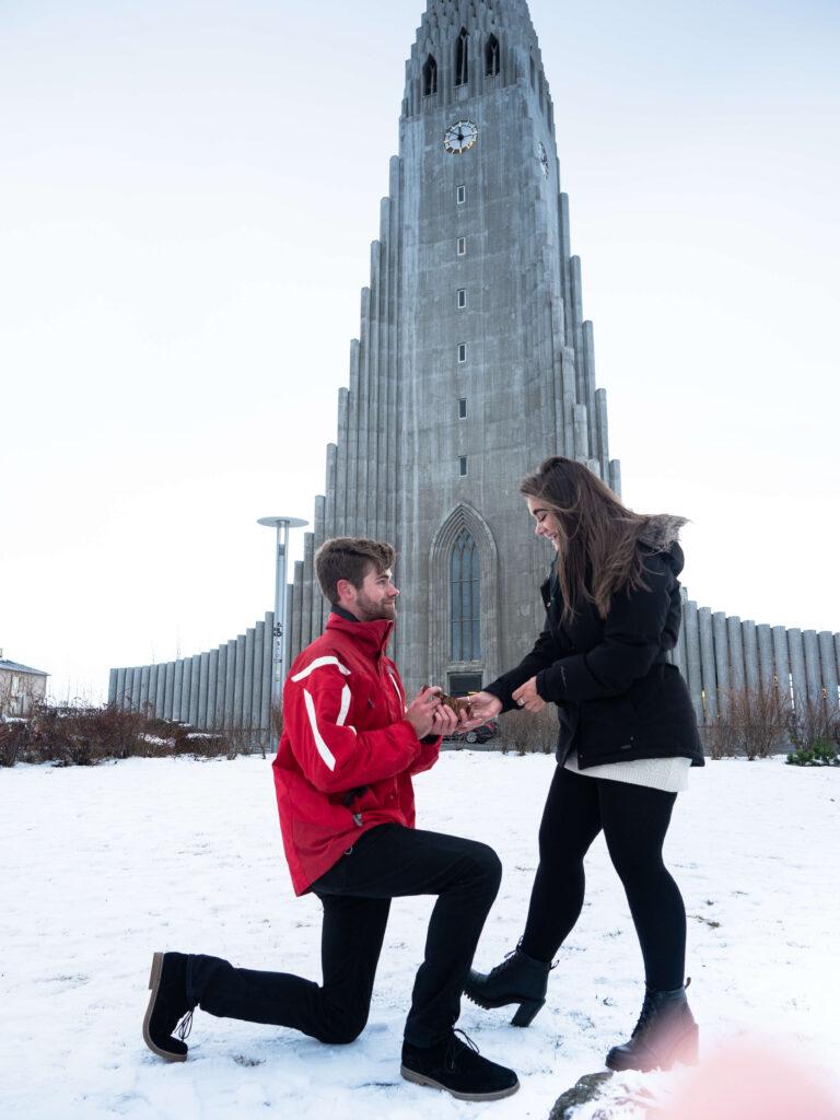 secret proposal hotoshoot reykjavik iceland in the winter